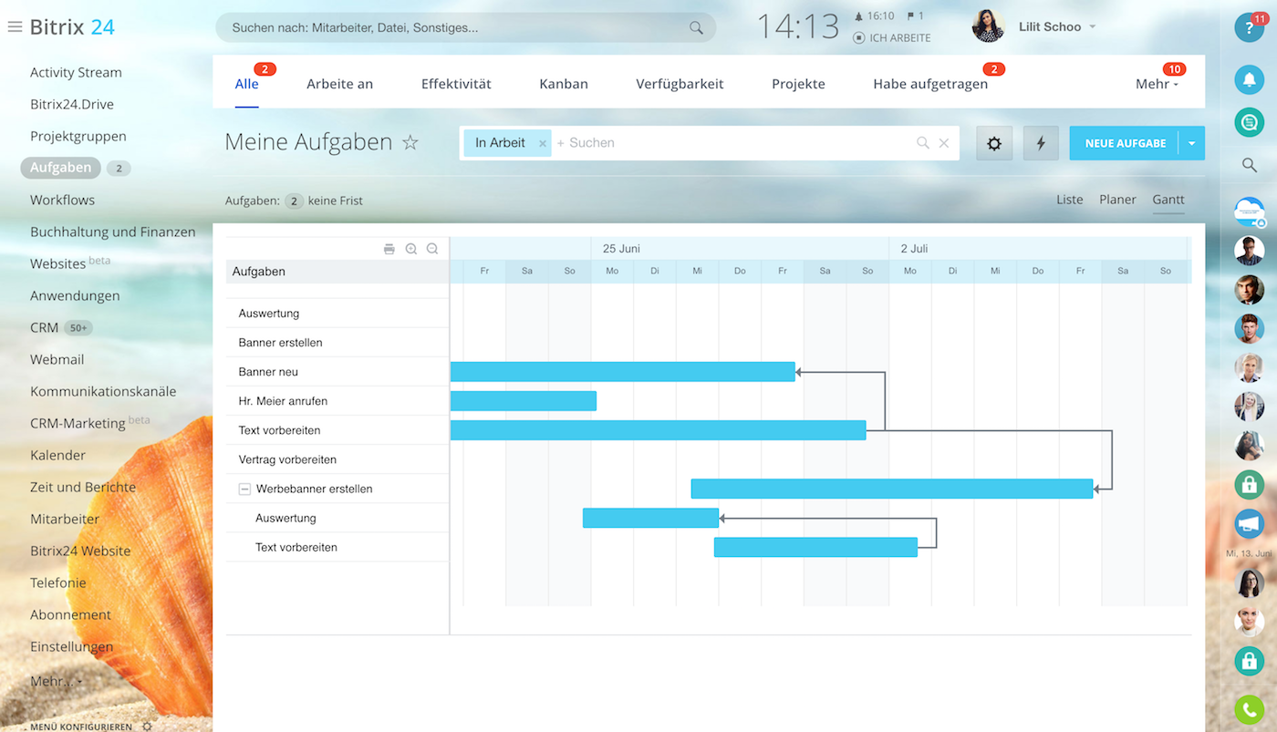 Bitrix24: Projektmanagement mit kostenlosen Projektplan-Vorlagen